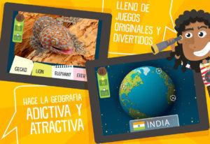 Juego de geografía en 3D destinado para niños sobre geografía mundial